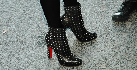louboutin spiked ankle boots